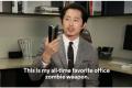 La guida di Steven Yeun per sopravvivere ad un'apocalisse zombie (in ufficio)