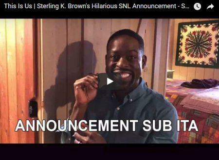 This is US: Sterling K. Brown presenterà il Saturday Night Live