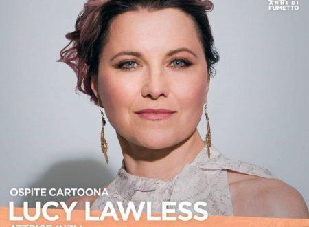 Lucy Lawless al COMICON 2018 per il finale di Ash vs Evil Dead 3