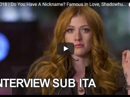 Shadowhunters, Famous in Love: quali sono i vostri soprannomi? Video SUB ITA