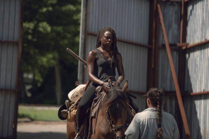 Danai Gurira as Michonne - The Walking Dead _ Season 9, Episode 6 - Photo Credit: Gene Page/AMC