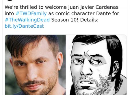 The Walking Dead 10 – Juan Javier Cardenas sarà Dante nella decima stagione