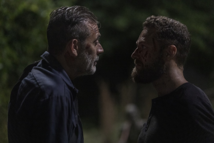 Ross Marquand and Jeffrey Dean Morgan - The Walking Dead