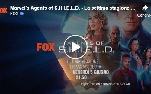 Marvel's Agents of S.H.I.E.L.D. – La settima stagione da venerdì 5 giugno alle 21.50 su FOX